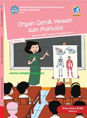 Kunci Jawaban Tematik Kelas 5 Tema 1 Organ Gerak Hewan dan Manusia www.simplenews.me