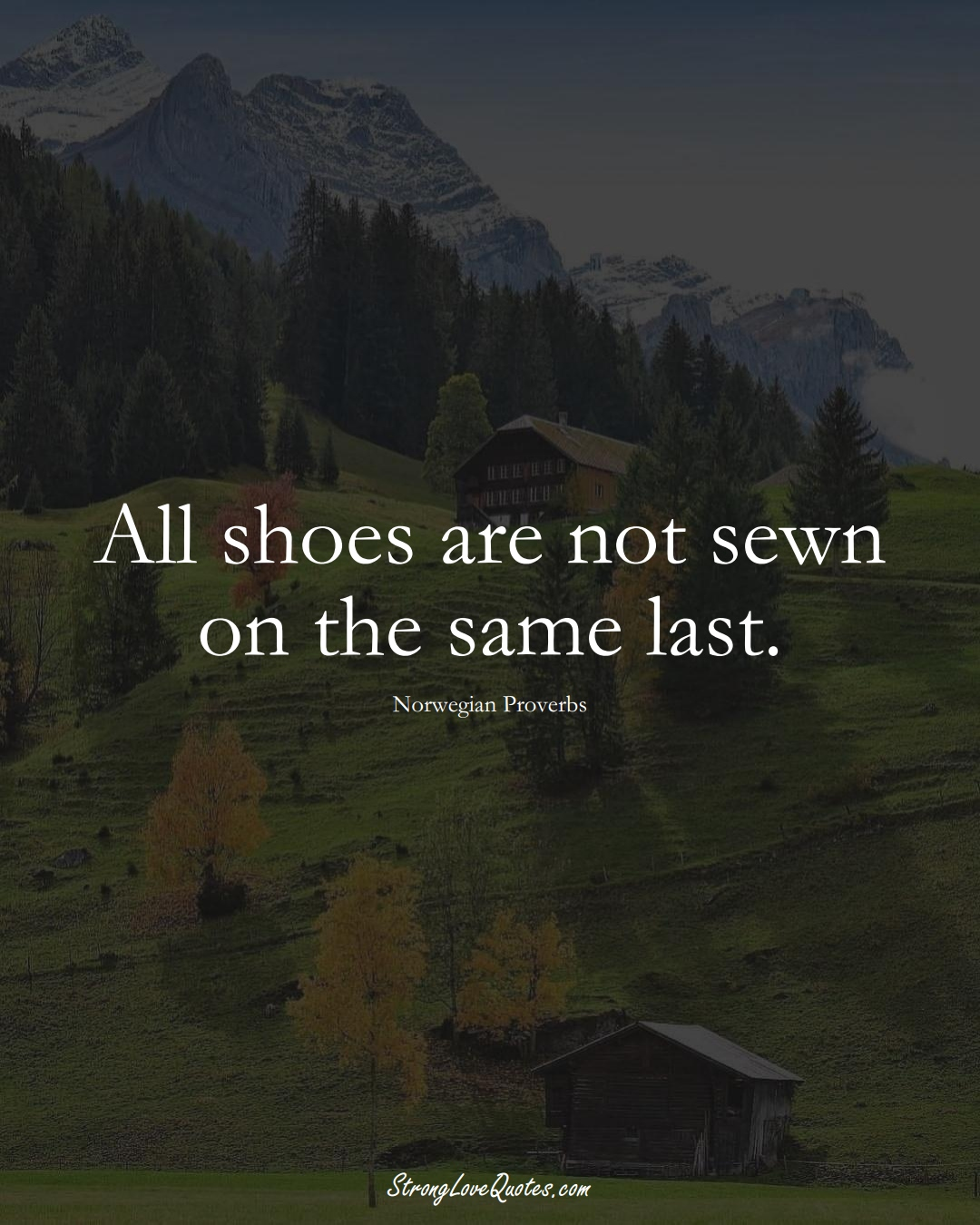 All shoes are not sewn on the same last. (Norwegian Sayings);  #EuropeanSayings
