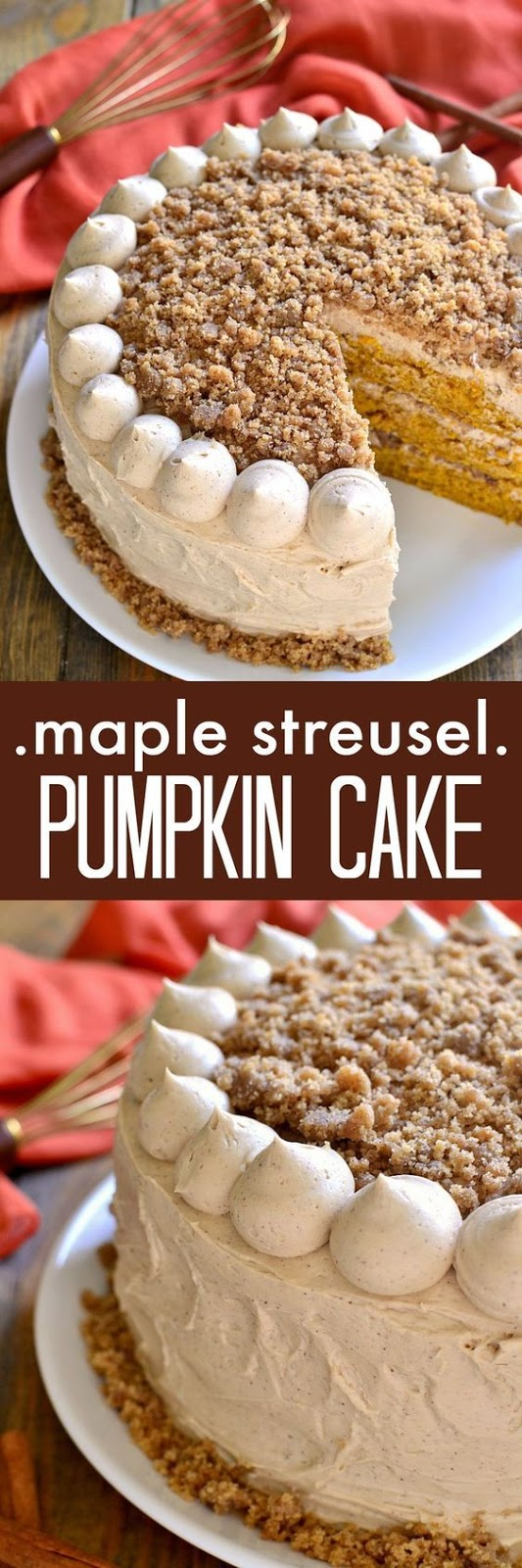 Maple Streusel Pumpkin Cake Recipe