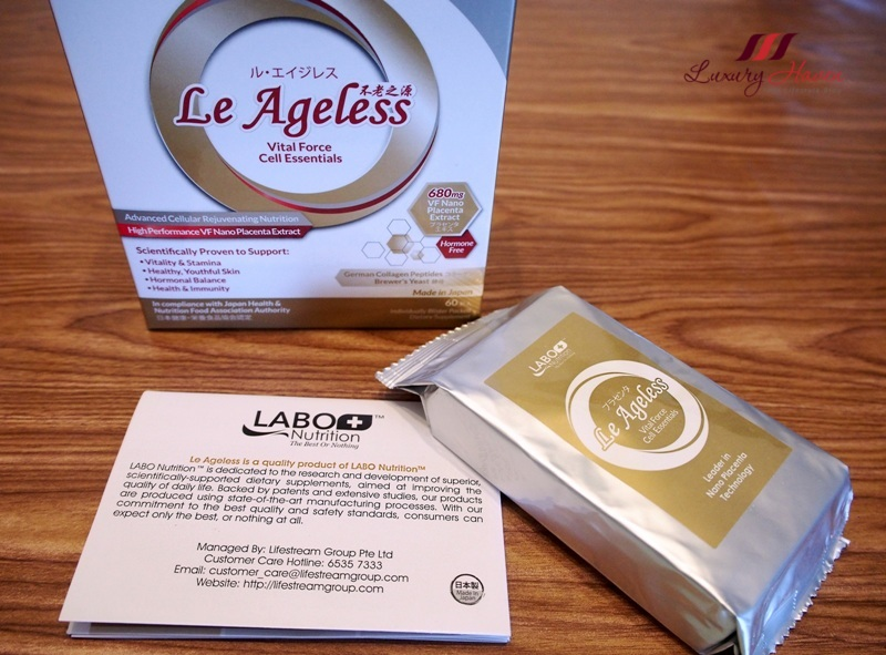 le ageless vital force cell essentials placenta therapy