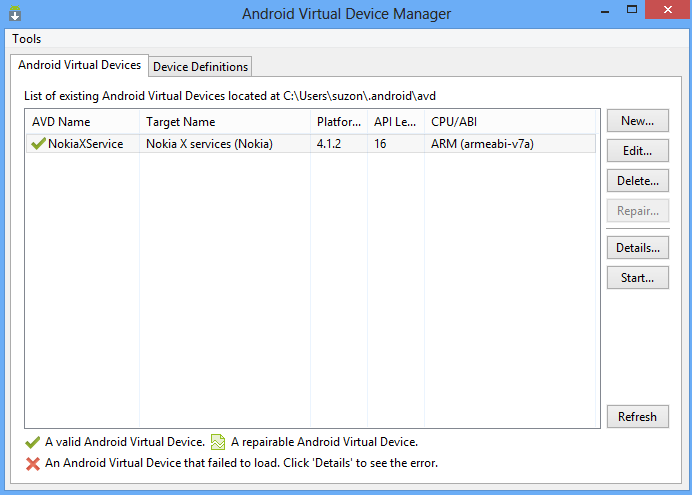 Nokia X Developer Tools Installing and configuring in