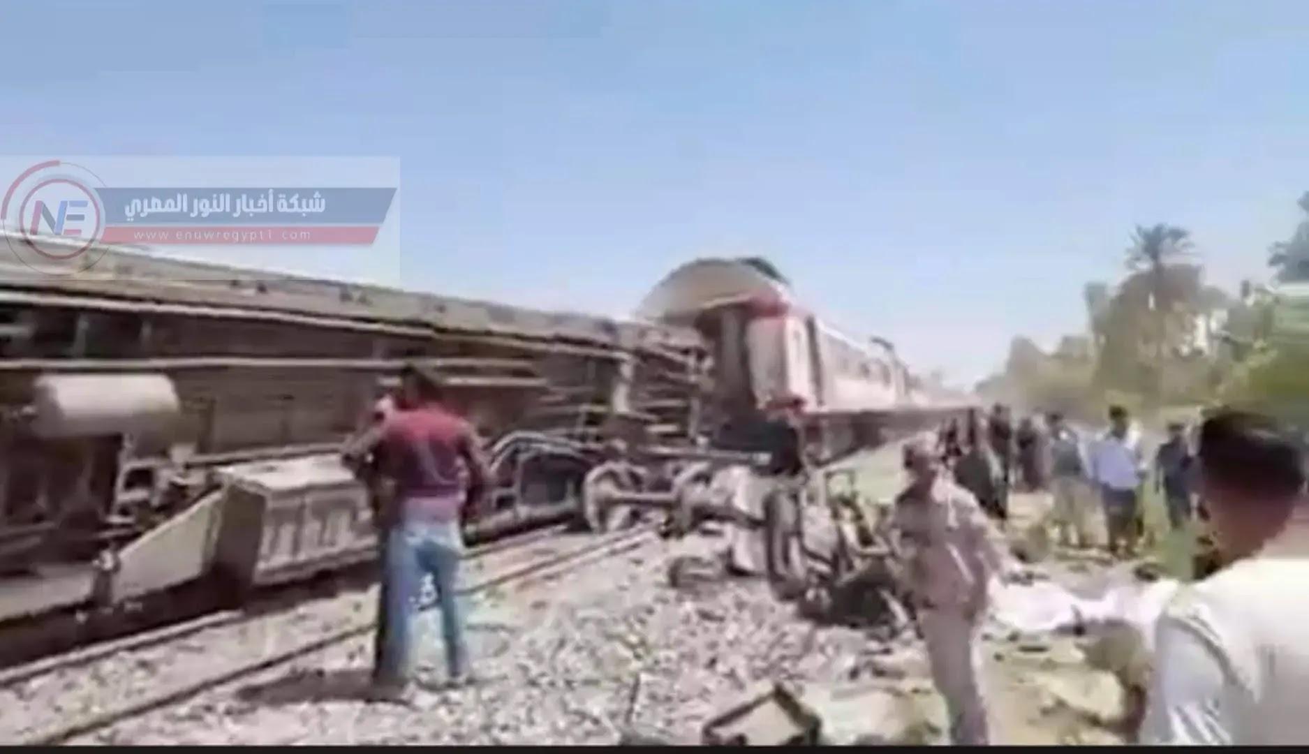 عاجل القصة كاملة| سبب حادث قطار سوهاج اليوم | حقيقة تصادم قطار سوهاج بالتفاصيل حول سبب الحادث