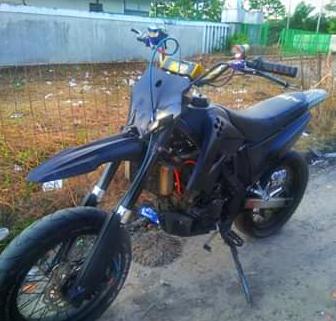 Modif Yamaha Jupiter MX jadi Motor Trail