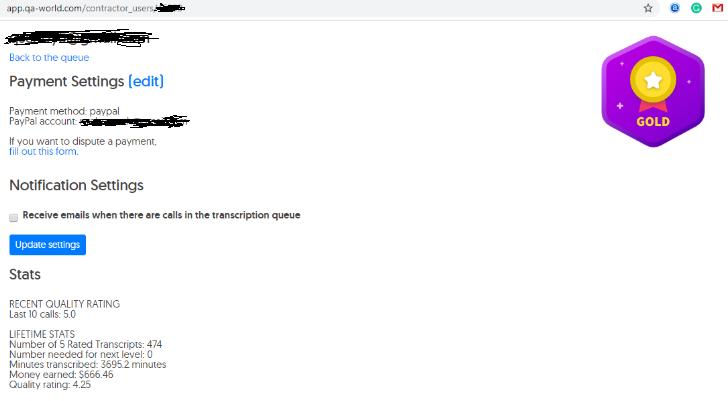 QAWorld Transcription