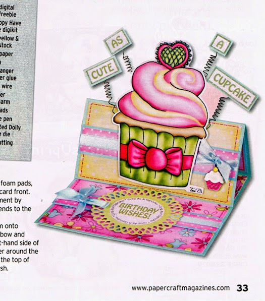 Cupcake Birthday Card by Colette Smith using Crudoodles