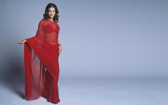 Bollywood Actress Aishwarya Rai Pics In Saree Navel Queens