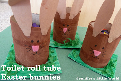 Easter bunny toilet roll tube craft