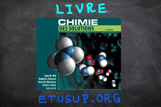 Livre chimie des solutions pdf