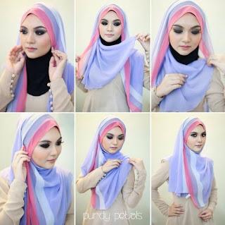 Tutorial hijab pashmina simple tanpa ninja terbaru