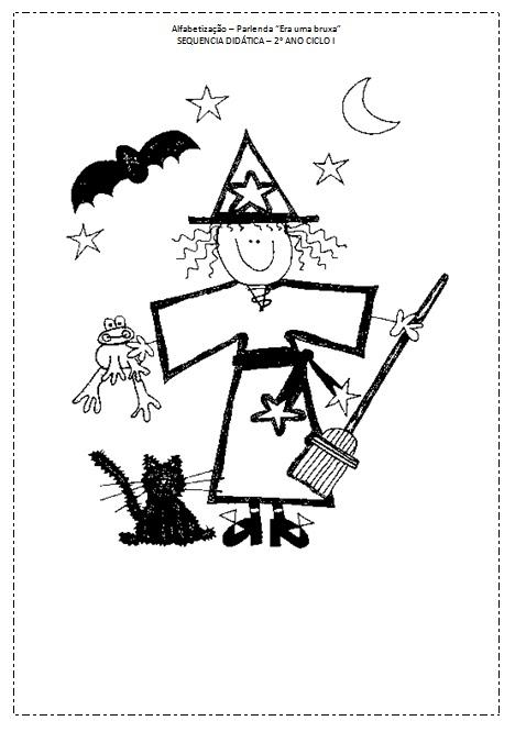Alfabetizacao Parlenda Era Uma Bruxa So Escola