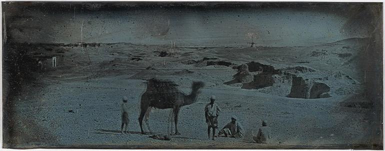 Photographie panoramique du désert près d'Alexandrie en 1842 par Girault de Prangey