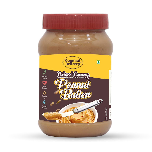 Gourmet Delicacy All Natural Creamy Peanut Butter (Gluten Free, Vegan), 1 kg