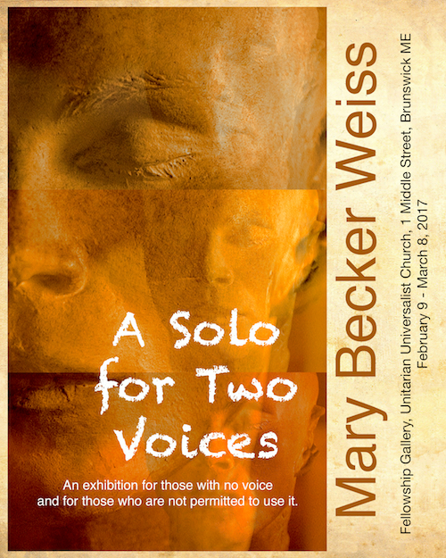 """Mary Becker Weiss : """"A Solo for Two Voices"""" at Unitarian Universalist Church of Brunswick"""