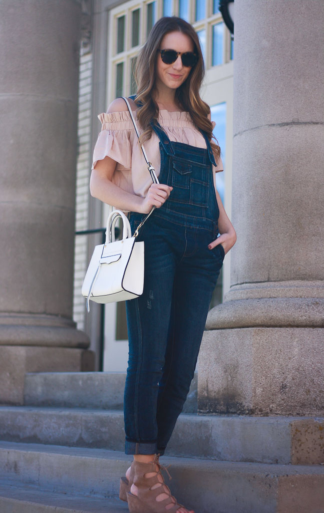 How to Wear Overalls: Overalls and an Off the Shoulder Top ...