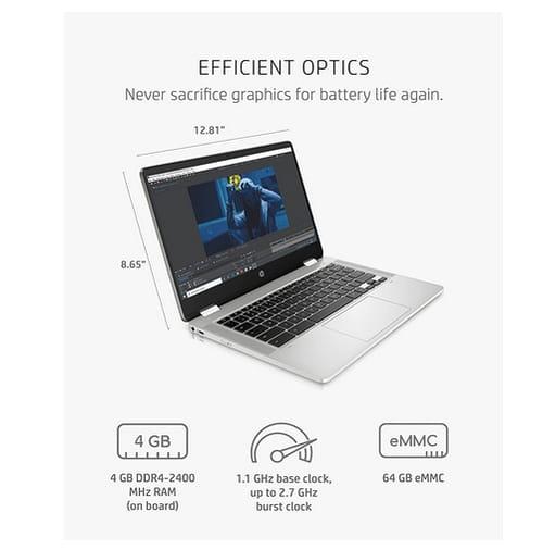 2021 HP Chromebook x360 14a-ca0022nr 2-in-1 Laptop