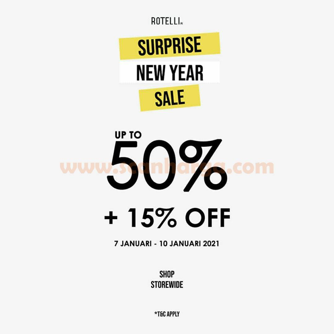 ROTELLI Surprise New Year Sale – Up to 50% + 15% Off⁣