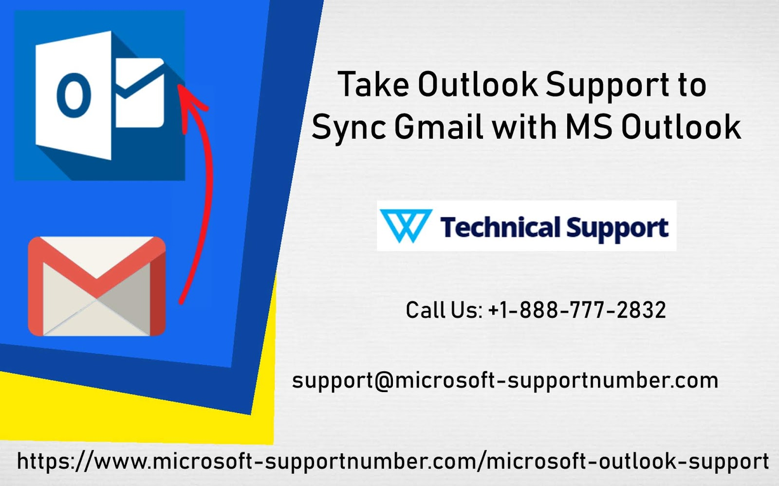 Take Outlook Support to sync Gmail with MS Outlook