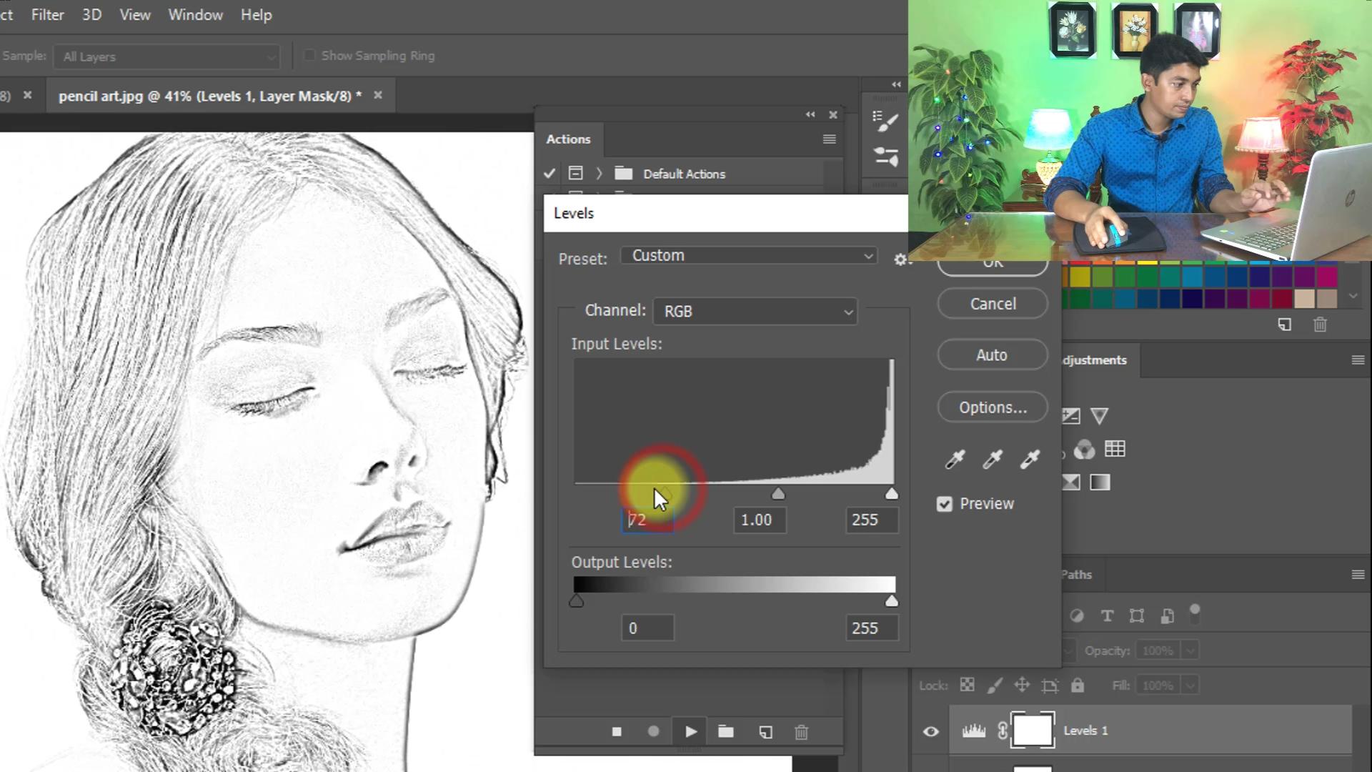 Free Download   20 Click Magic Pencil Sketch Art Photoshop Actions