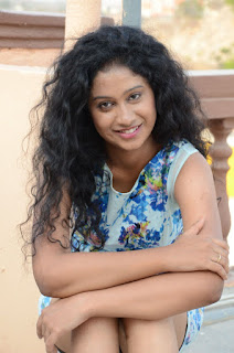 Actress Priyankha Stills in Floral Short Dress at Golmal Gullu Movie Pressmeet 0292.JPG