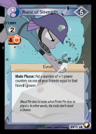 My Little Pony Burst of Strength Equestrian Odysseys CCG Card