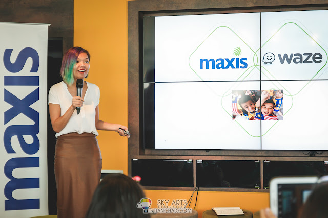 "Sulin Lau, Head of Marketing Services of Maxis sharing about ""Maxis x Waze Safe Mode Kids"""