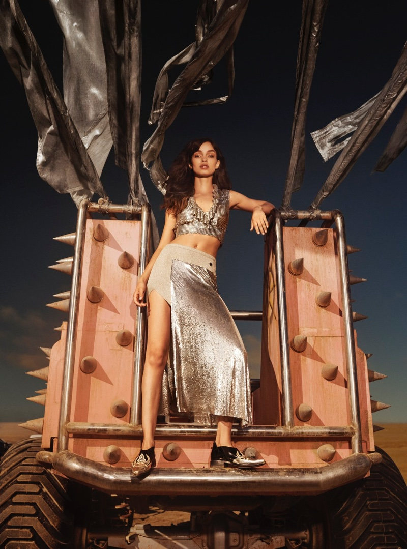Luma Grothe fronts Paco Rabanne Olympea fragrance