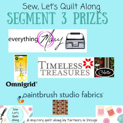 Sew Let's Quilt Along Segment 3 Prizes