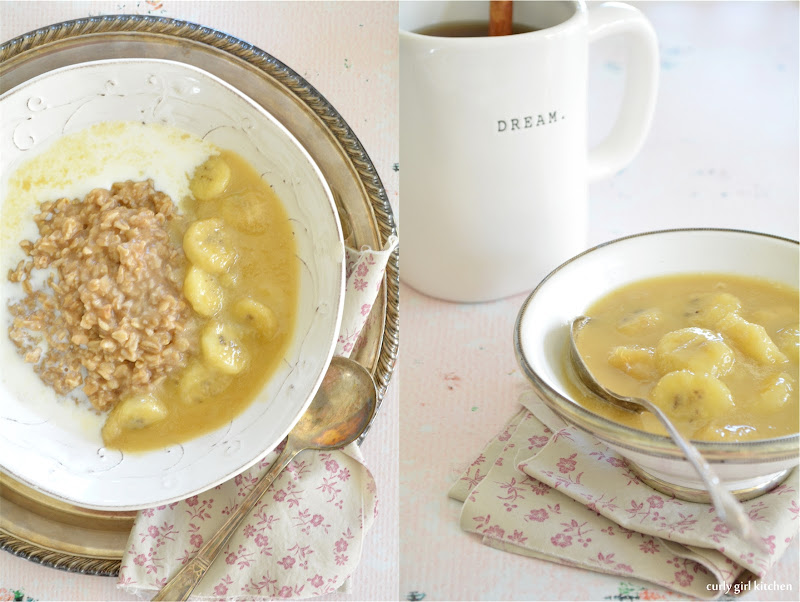 Oatmeal with Caramelized Bourbon Bananas