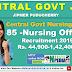 JIPMER Recruitment 2019: 85 posts of Staff Nurse Vacancy (Nursing Officer) central Govt Nursing Jobs