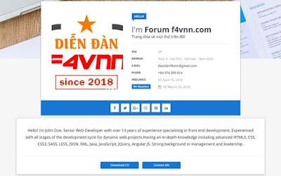 CV Online Template Blogspot