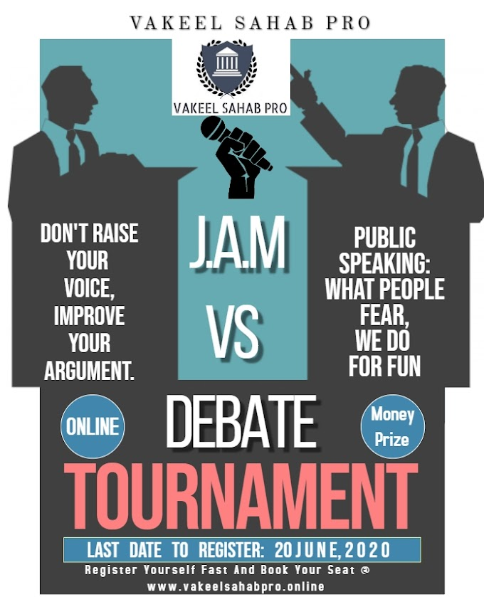 DON'T HATE, JUST DEBATE (J.A.M vs. DEBATE) @ VAKEEL SAHAB PRO