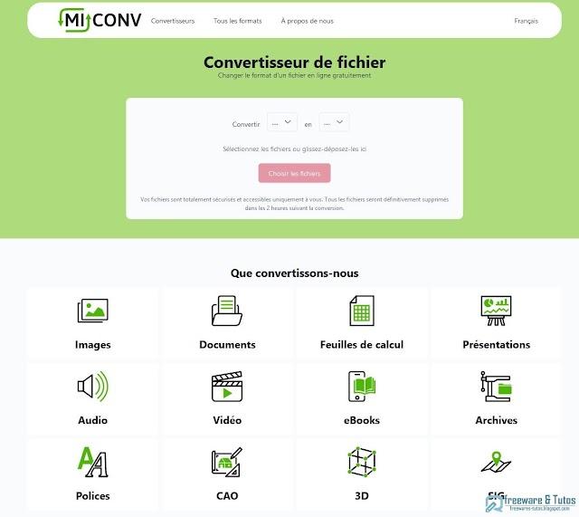 MiConv : un nouveau couteau suisse de la conversion de fichiers en ligne