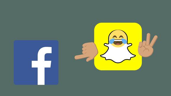 الحرب مستمرة على فيسبوك و سناب شات تسخر من فيسبوك!
