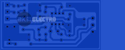 Rangkaian subwoofer 4558 Single Suply PCB Layout