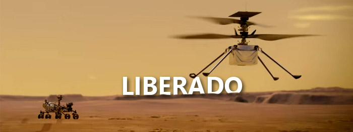 liberado primeiro voo de teste do helicóptero Ingenuity em Marte