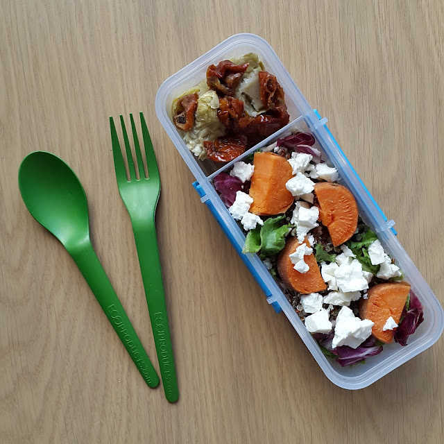 autumn lunchbox salad
