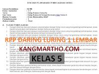 RPP DARING LURING KELAS 5 1 LEMBAR SEMESTER 1 DAN 2