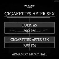 Programacion Concierto de CIGARETTES AFTER SEX en Bogotá