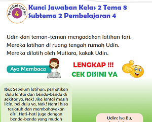 Kunci Jawaban Kelas 2 Tema 8 Subtema 2 Pembelajaran 4 www.simplenews.me