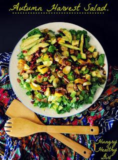 vegan autumn harvest salad