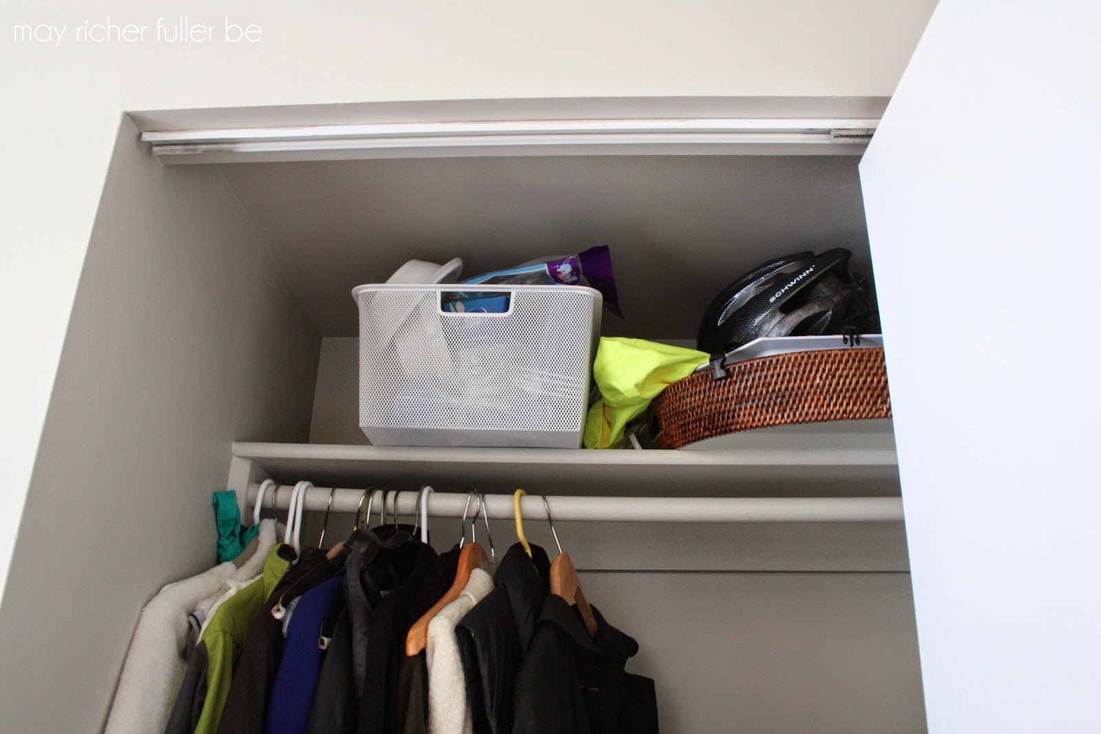 Operation Re Organization Front Hall Closet Before