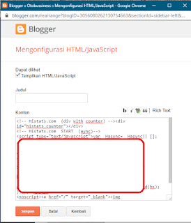 dashboard html blogger
