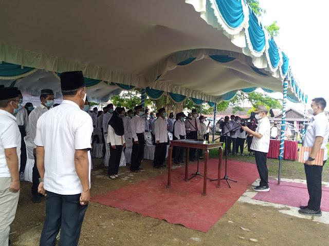 Bupati Kapuas Lantik 40 Anggota BPD 8 Desa Di Kecamatan Kapuas Murung