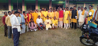 ग्राम चौरासी मै गायत्री परिवार की गोष्ठी
