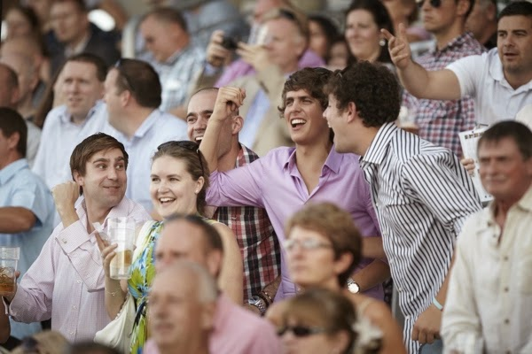 Stag Cheering At Ascot Racecourse
