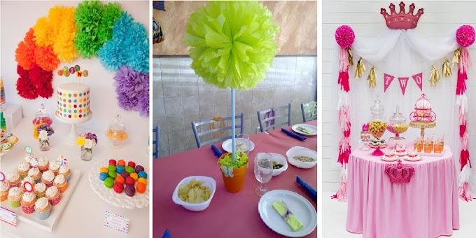 Cómo hacer hermosos pompones para decorar tu fiesta