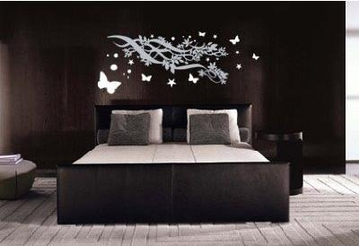 Dormitorio negro y femenino via - Habitaciones blancas y negras ...