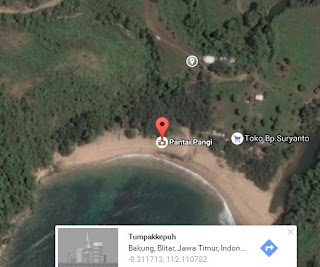 Letak Pantai Pangi Blitar JaTim