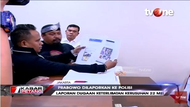 RNA 98 Laporkan Prabowo hingga Amien Rais sebagai Dalang Kerusuhan 22 Mei