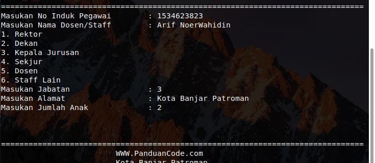 Perhitungan Gaji Karyawan Dengan Python Tugas XI RPL Terbaru